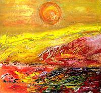 Agnes-Vonhoegen-Abstraktes-Landschaft-Sommer-Moderne-Expressionismus-Abstrakter-Expressionismus