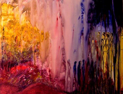 Agnes Vonhoegen, Sehnen und Erwarten, Gefühle: Geborgenheit, Gefühle: Liebe, Gegenwartskunst, Expressionismus