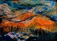 Agnes-Vonhoegen-Landschaft-Huegel-Abstraktes-Moderne-Abstrakte-Kunst