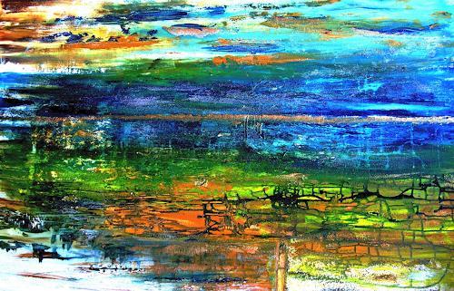 Agnes Vonhoegen, Spätsommer, Abstraktes, Dekoratives, Gegenwartskunst