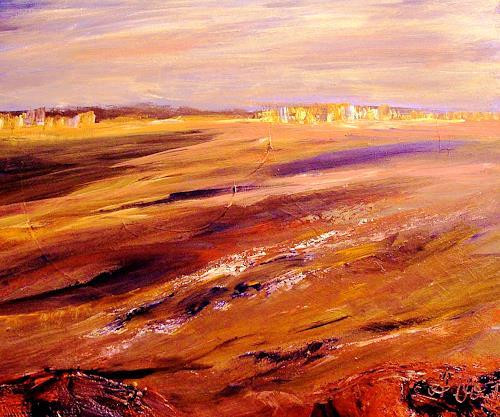 Agnes Vonhoegen, Weites Land II, Landschaft: Ebene, Landschaft: Sommer, Gegenwartskunst