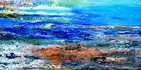 Agnes-Vonhoegen-Landschaft-Sommer-Abstraktes-Moderne-Abstrakte-Kunst