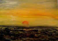 Agnes-Vonhoegen-Landschaft-See-Meer-Landschaft-Huegel-Gegenwartskunst-Gegenwartskunst