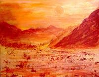 Agnes-Vonhoegen-Natur-Erde-Landschaft-Berge-Moderne-Abstrakte-Kunst