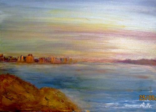 Agnes Vonhoegen, Skyline, Landschaft: Hügel, Landschaft: See/Meer, Gegenwartskunst