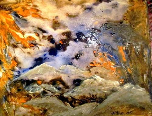 Agnes Vonhoegen, Traumwelt, Fantasie, Abstraktes, Abstrakte Kunst, Expressionismus