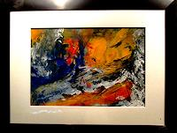 Agnes-Vonhoegen-Dekoratives-Pflanzen-Fruechte-Moderne-Abstrakte-Kunst