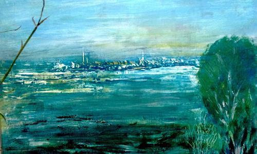 Agnes Vonhoegen, Skyline, Natur, Landschaft, Gegenwartskunst