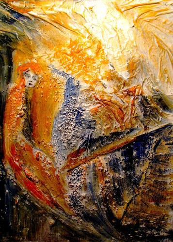 Agnes Vonhoegen, Warten was kommt, Gefühle, Glauben, Abstrakte Kunst, Expressionismus