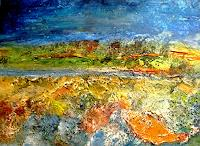 Agnes-Vonhoegen-Landschaft-Sommer-Fantasie-Gegenwartskunst-Gegenwartskunst