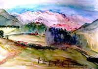 Agnes-Vonhoegen-Landschaft-Landschaft-Berge-Gegenwartskunst-Gegenwartskunst