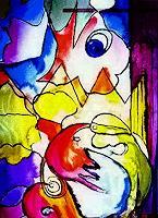 Agnes-Vonhoegen-Fantasie-Moderne-Abstrakte-Kunst-Action-Painting