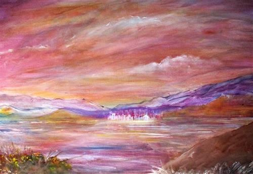 Agnes Vonhoegen, Impressionen  vom Meer, Landschaft: See/Meer, Natur: Wasser, Gegenwartskunst