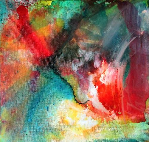 Agnes Vonhoegen, Im Farbrausch, Natur, Fantasie, Abstrakte Kunst, Expressionismus