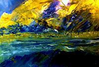 Agnes Vonhoegen, Landschaft im Sonnenlicht