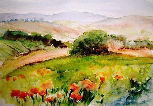 Agnes Vonhoegen, Toscana, Natur: Erde, Landschaft: Berge, Gegenwartskunst