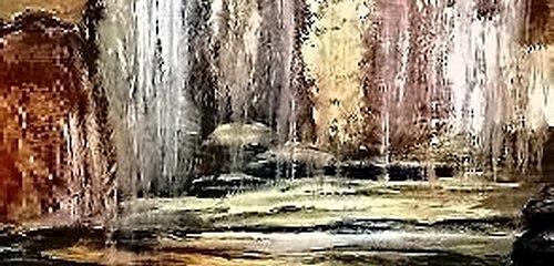 Agnes Vonhoegen, Wasserfall, Natur: Wasser, Bewegung, Gegenwartskunst