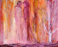 Agnes-Vonhoegen-Menschen-Paare-Gefuehle-Liebe-Moderne-Abstrakte-Kunst