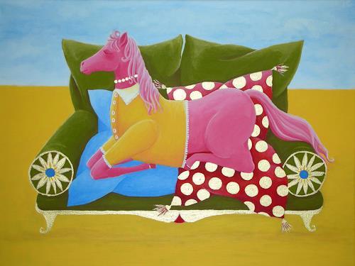 Benita Bonk, TIME TO GO TO SLEEP, Fantasie, Humor, Expressionismus
