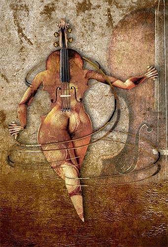 Pascale Turrek, die Violine, Diverses, Fantasie, Surrealismus