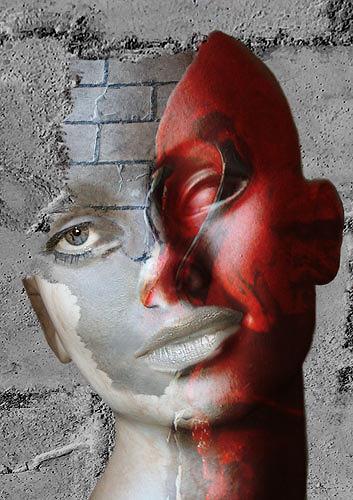 Pascale Turrek, teilung, Abstraktes, Abstraktes, Surrealismus, Abstrakter Expressionismus