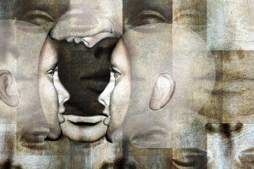 Pascale Turrek, Gesichter, Diverses, Fantasie, Surrealismus, Abstrakter Expressionismus