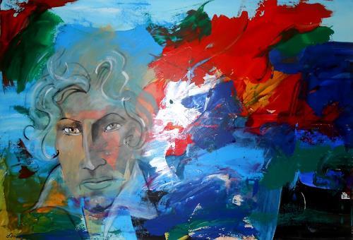 Leonore Zimmermann, Beethoven aus meinem Atelier, Menschen: Mann, Abstrakte Kunst