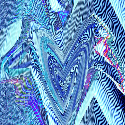 Leonore Zimmermann, Herzensangelegenheit in Blau, Abstraktes, Action Painting
