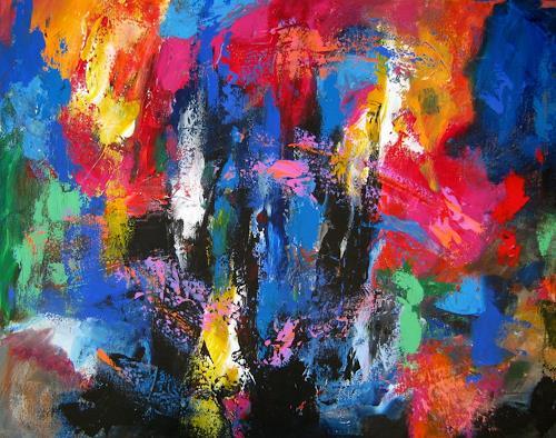Leonore Zimmermann, Sturm der Liebe, Abstraktes, Abstrakter Expressionismus
