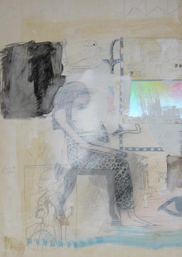 Leonore Zimmermann, Skizze 2000, Mythologie, Fantasie, Abstrakte Kunst