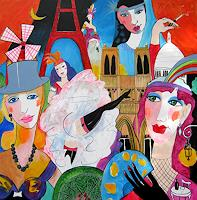 Leonore-Zimmermann-Fantasie-Dekoratives-Moderne-Pop-Art