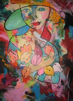 Leonore-Zimmermann-Menschen-Gesichter-Menschen-Frau-Moderne-Pop-Art
