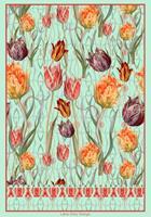 Leonore-Zimmermann-Pflanzen-Blumen-Dekoratives-Moderne-Abstrakte-Kunst