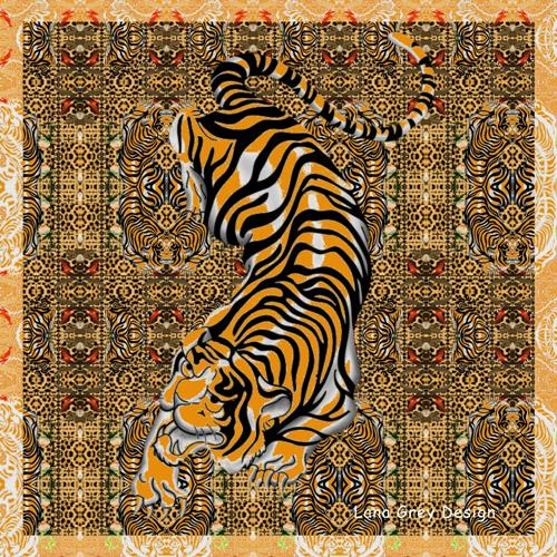 Leonore Zimmermann, I'm a tiger, Fantasie, Tiere, Moderne, Expressionismus