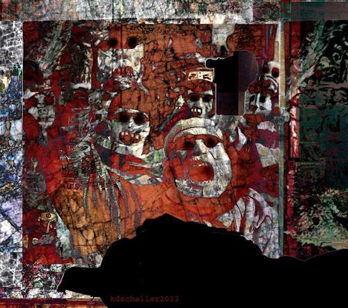 karl dieter schaller, fratze der extase, Diverses, Gegenwartskunst, Abstrakter Expressionismus
