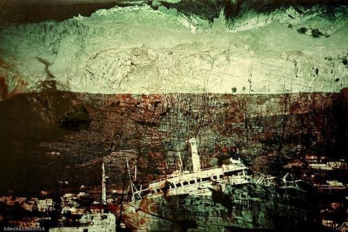 karl dieter schaller, terminus naval, Diverses, Gegenwartskunst, Abstrakter Expressionismus