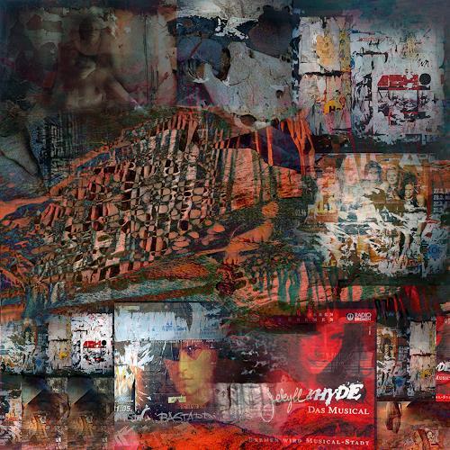 karl dieter schaller, plakate.ausschnitt 3., Diverses, Gegenwartskunst, Abstrakter Expressionismus