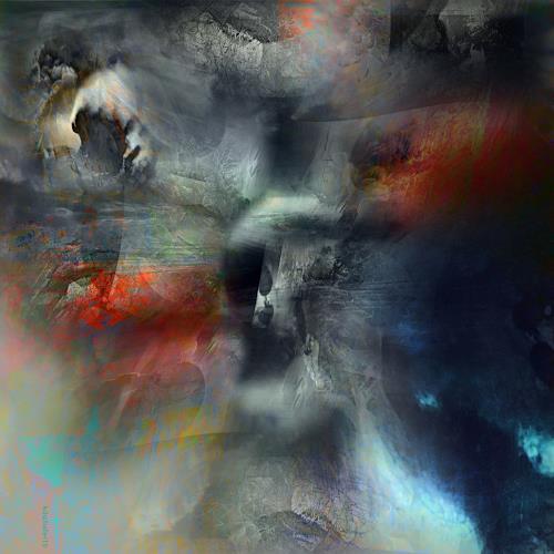 karl dieter schaller, ravage.v1.detail, Diverses, Gegenwartskunst, Abstrakter Expressionismus