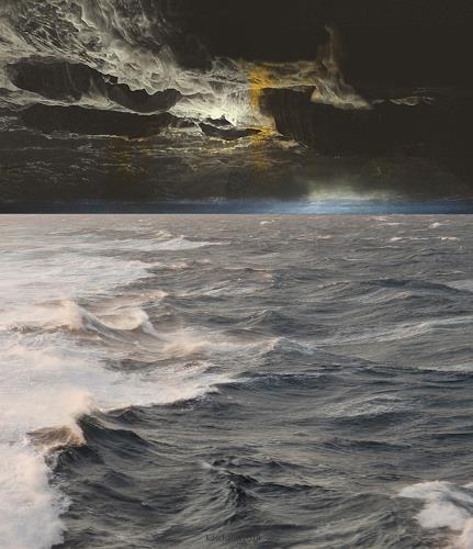 karl dieter schaller, red sea..times to come. version 1, Diverses, Gegenwartskunst, Abstrakter Expressionismus