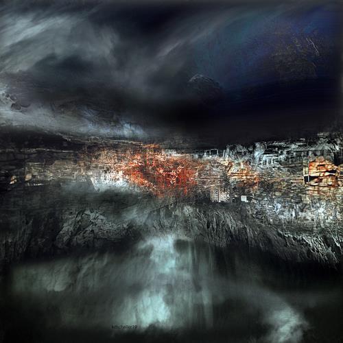 karl dieter schaller, calvaire. au bord du gouffre. serie congo, Diverses, Gegenwartskunst, Abstrakter Expressionismus