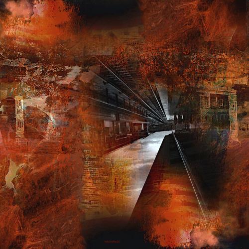 karl dieter schaller, railway to hell. detail. variante 1, Diverses, Gegenwartskunst