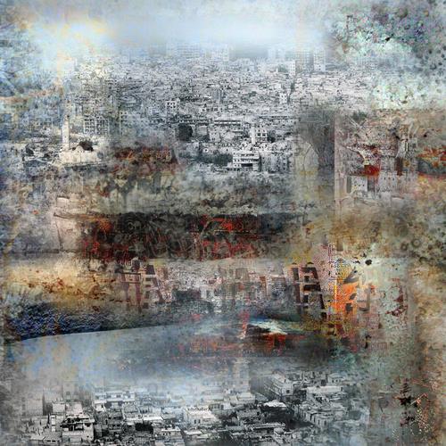karl dieter schaller, townsheart 1. serie    un autre monde, Diverses, Gegenwartskunst, Abstrakter Expressionismus