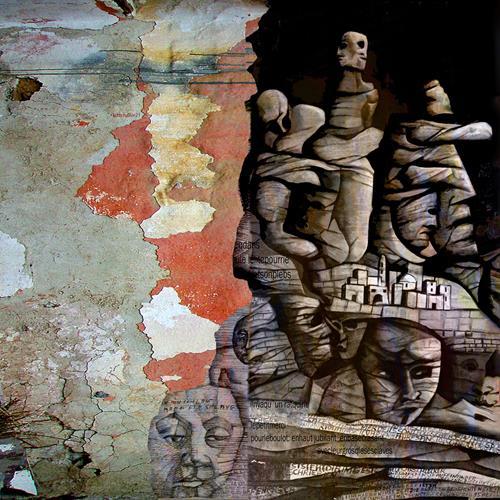 karl dieter schaller, sous les fesses du pouvoir.contrat social. detail, Diverses, Gegenwartskunst, Abstrakter Expressionismus