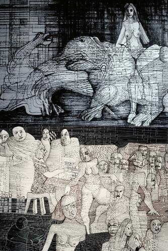 karl dieter schaller, gegen den strich  2 etagen, Diverses, Gegenwartskunst, Abstrakter Expressionismus