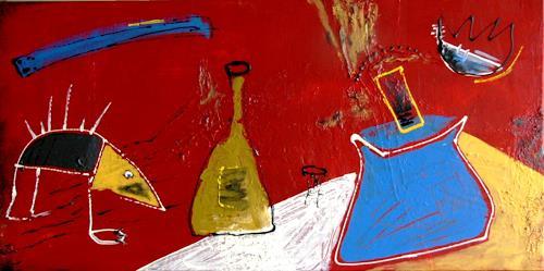 Bibi J, der Besuch des Schnabeltiers, Abstraktes, Gegenwartskunst