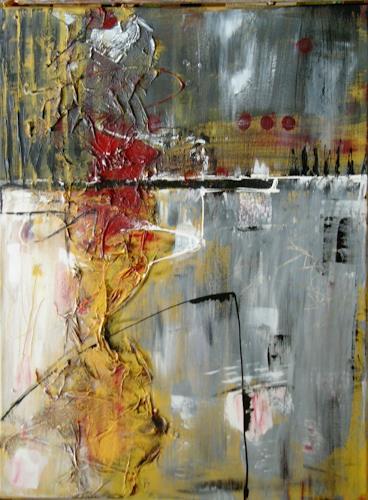 Bibi J, durch die Wand, Abstraktes, Gegenwartskunst