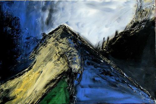 Bibi J, am Berg, Abstraktes, Gegenwartskunst, Expressionismus