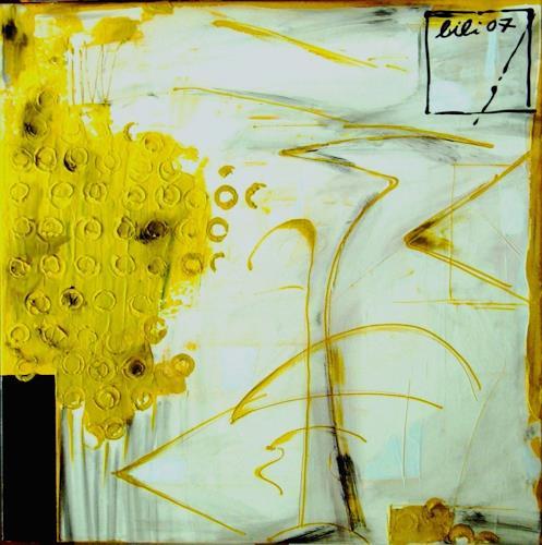 Bibi J, champagne, Abstraktes, Gegenwartskunst