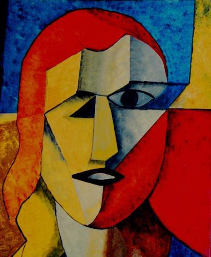 Bibi J, kein Selbstportrait, Menschen: Frau, Kubismus