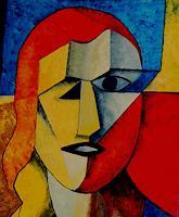 Bibi-J-Menschen-Frau-Moderne-Kubismus